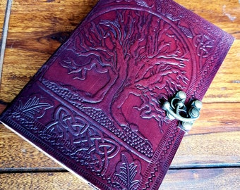 Leather Tree of life Handmade Journal Diary, Book of Shadows