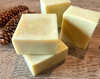 Organic OATMEAL and HONEY soap with ROSEMARY and lavender