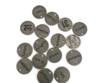 Tim Holtz Idea-Ology Halloween muse tokens - Holiday Charms - coin charm