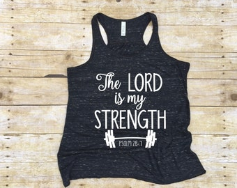 Workout Tank, Crossfit Tank, Christian Workout, Christian Shirt, Workout Shirt, Christian Gifts for Women, Yoga Tank, Workout Tank for Women