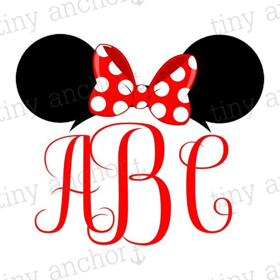 Choose Your Color Printable Personalized Minnie Mouse Ears