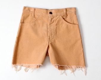 vintage Levis corduroy shorts, cord short cut offs, waist 26
