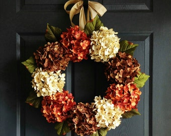 Hydrangea Wreath | Front Door Wreaths | Summer Wreaths | Automne Couronne | Herbst Kranz | Door Wreath | dør krans | couronne de porte