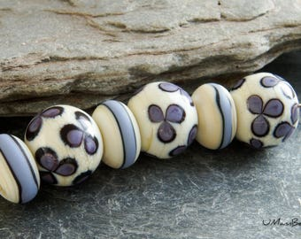 Sweet Violet Rounds and Stripy Spacers