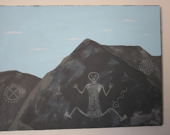 New Mexico Petroglyph painting