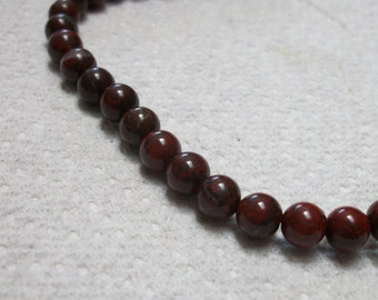 6mm Brecciated Jasper beads, 16inch strand