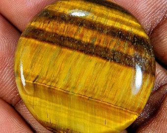 Brown Tiger Eye Round Cabochon  Gemstone 59.10 Cts. ;#1917