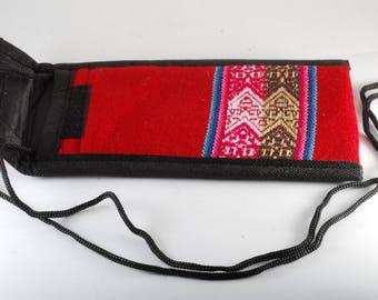 Manta Eye Glass Case Bag From Peru Free Trade OOAK Handmade New #3