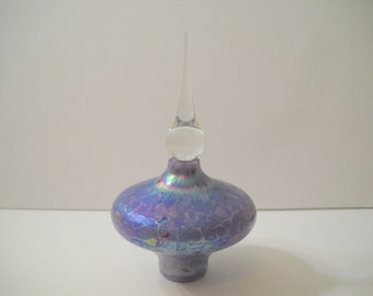 Perfume Bottle Blue with Colored Specks