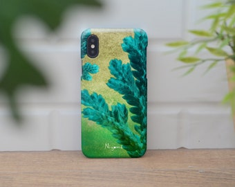 iPhone X Case, iPhone 8 Plus Case, iPhone 7 Case, iPhone 6 Case, iPhone 8 Case, iPhone 7 Plus the green natural fern iphone case