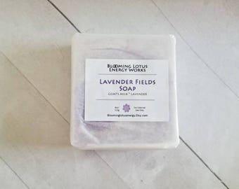 Lavender Soap, Goat's Milk Soap, Nourishing Soap, Handmade Soap, 4oz.