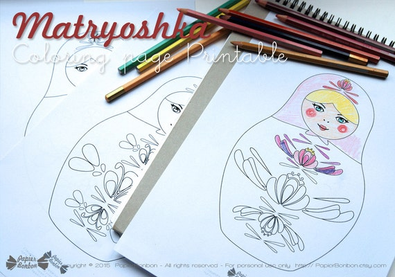 Mindfulness Coloring Pages Pdf : Coloring pages matryoshka printable russian dolls drawings to