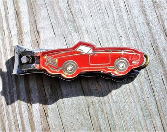 Vintage Car Automobile Nail File Nail Clippers Key Chain Japan