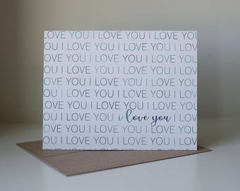 I Love You Card, Just Because Card, Anniversary Card, Card for Boyfriend, Card for Girlfriend, Love Card, Dating Anniversary