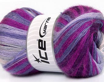 Mohair Magic Purple, Lilac, Lavender, Fuchsia