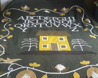Twin size wool applica blanket