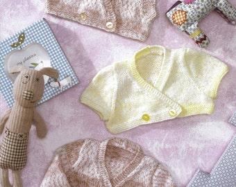 cardigans and waistcoat dk knitting pattern 99p pdf