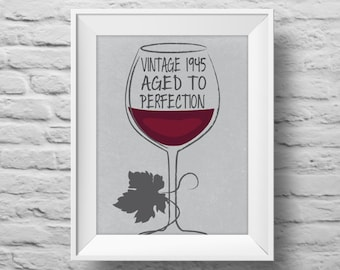 AGED TO PERFECTION unframed art print Typographic poster, inspirational print, custom wall decor, quote art. (R&R0047)