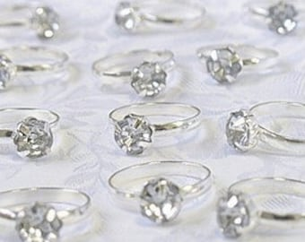 Silver Engagement Rings for Table Decorations or Favor Accents - Pack of 12 - Wedding Supplies Unique wedding ideas reception theme ideas