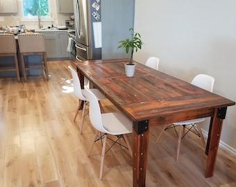 Farmhouse Table, Farm Table, Long Farmhouse Table, Rustic Barn Wood Table,  Handmade