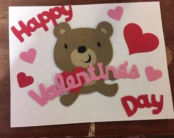 Teddy Bear Valentines Set of 12