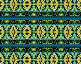 SALE Rhapsody Black Border Stripe Fabric 1 Yard