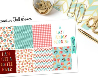 EC Breakfast in Bed Weekly Kit // Planner Stickers // Decorative // Erin Condren Life Planner // Vertical Layout