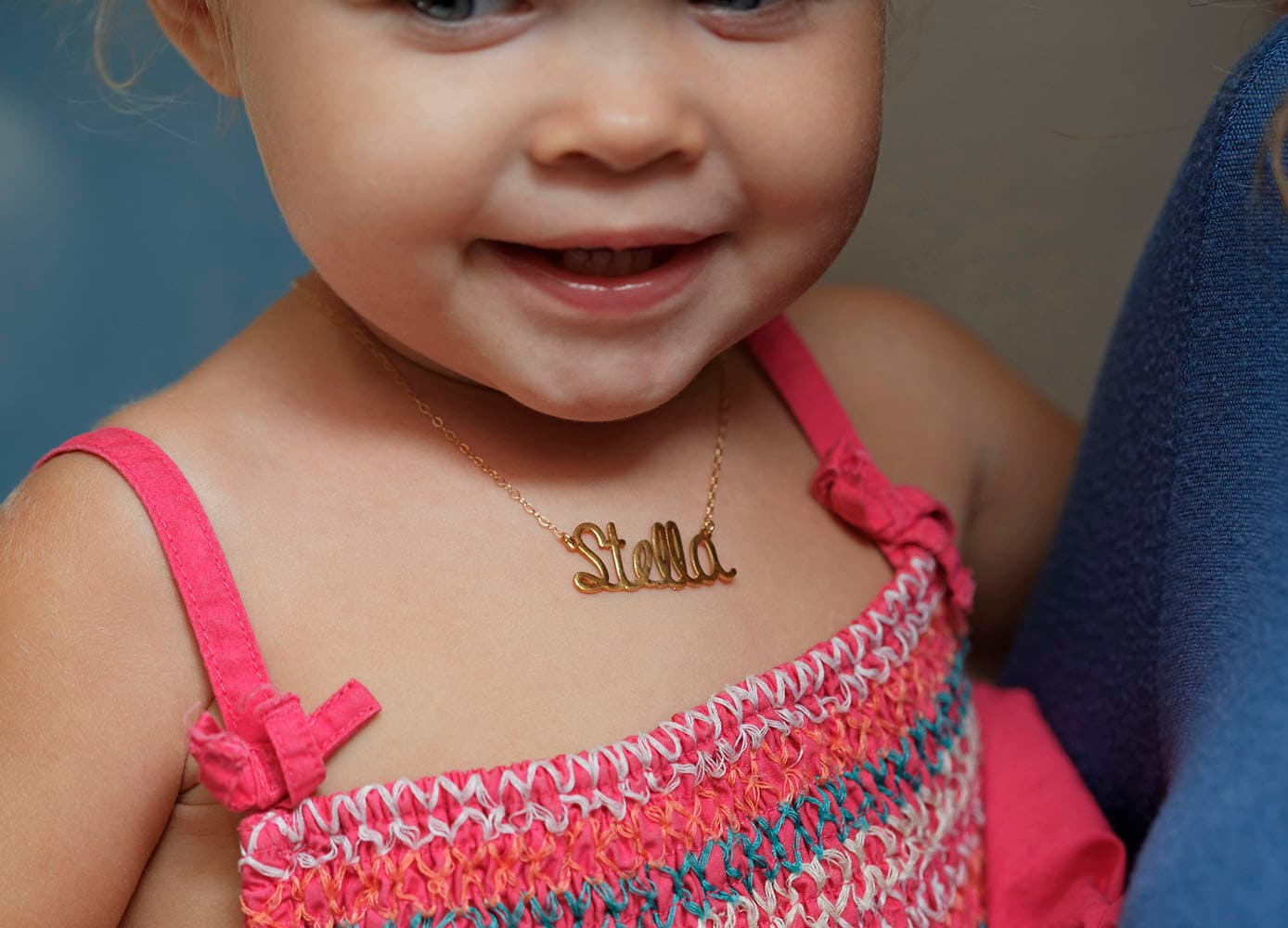 v necklace in gold children necklaces p name zales