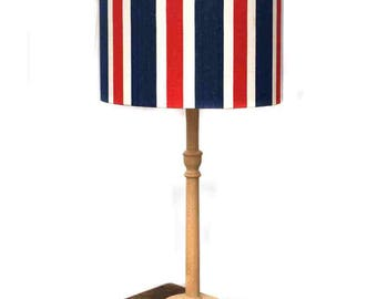 Lampshade ~ Striped ~ Stripes ~ Red, White and Blue ~ Striped Lampshade