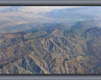 Poster, Many Sizes Available; Alamo Mountain With Grapevine And Pyramid Lake Aerial From West August 2014