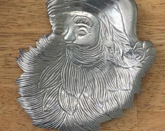 Santa metal dish
