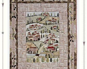 Tuscany - PAPER / PHYSICAL pattern by MJJenekdesigns, wall hanging quilt, hand appliqué