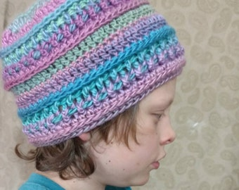 Crochet Wanderlust Beanie pastel