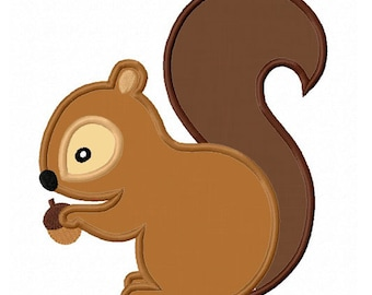 Squirrel Applique Machine Embroidery Design NO:0469
