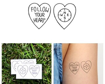 Encompassed - Temporary Tattoo (Set of 2)