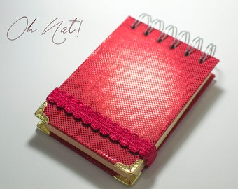 Notebook Red Drawingbook Texture Portable Red Mermaid