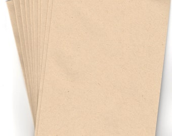 10 Brown Flecked Kraft Envelopes A7 for Greeting Cards Triangular Flap Gummed