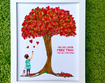 Love Big ~ Little Frida Kahlo Art Print