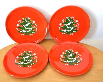 Vintage Waechtersbach West German Christmas Tree Dessert / Salad Plates Set of 4 & Waechtersbach | Etsy