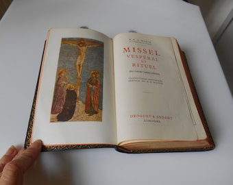 Religion - Antique Missal Vesperal and Rituals - Editions 1956 - France