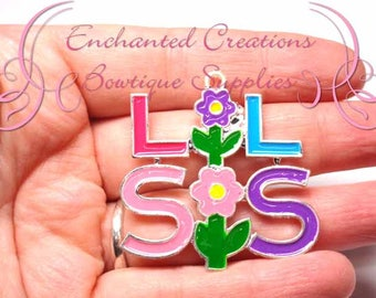 "2"" Lil Sis Charm, Chunky Pendant, Keychain, Bookmark, Zipper Pull, Chunky Jewelry, Purse or Planner Charm, See Big Sis Charm Too, Sisters"