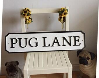 Shabby Chic Street Sign Vintage Bespoke Road Sign Interior Design Any Name Made Pug Lane