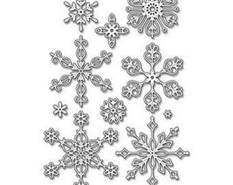My Favorite Things Stylish Snowflakes dies