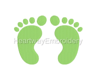 Mini baby feet embroidery design 5 SIZES  - mini embroidery design, tiny baby feet embroidery design, mini baby footprints embroidery