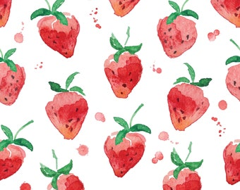 Wet Strawberries Photo Backdrop