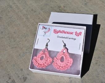 Teardrop Crocheted Earrings