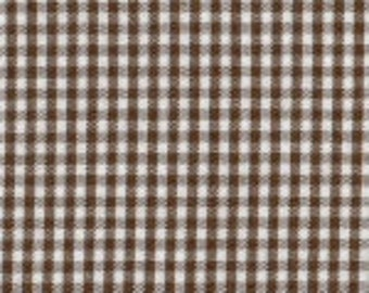"HALF YARD 1/16"" CHOCOLATE Fabric Finders Gingham"