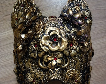Kitty blind mask-metal cat mask