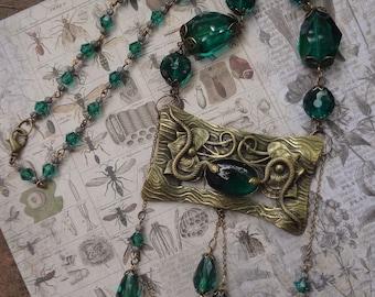 Antique Art Nouveau Snake Necklace