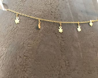 Gold Dangle Stars necklace